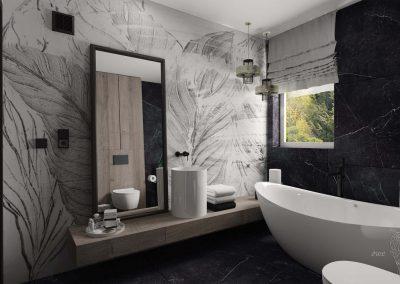 Projekt nowoczesnej łazienki OWLpracownia