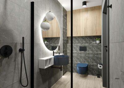 Projekt nowoczesnej toalety OWLpracownia
