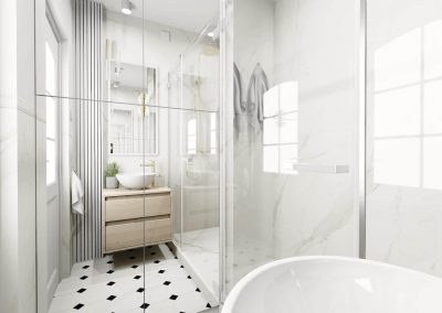 Elegancka mała łazienka OWLpracownia
