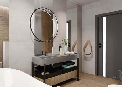 Aranżacja nowoczesnej łazienki OWLpracownia