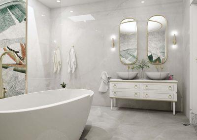 Aranżacja salonu kąpielowego OWLpracownia